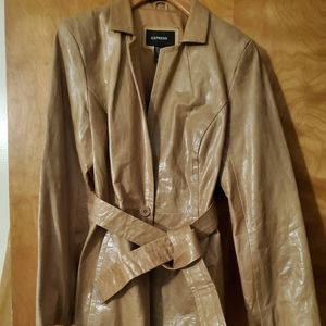 Express genuine leather jacket & pants
